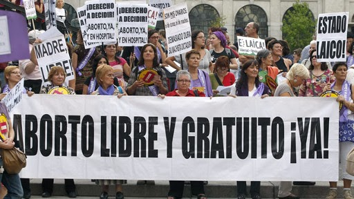 apoyan aborto en espana
