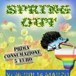 VENERDI 14 MARZO 2014 – SPRING OUT