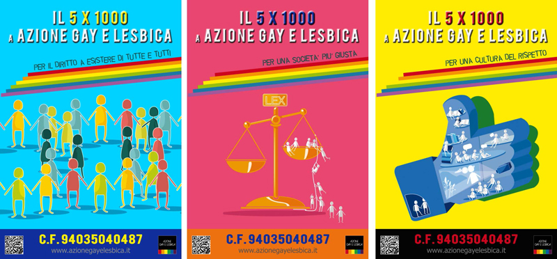 campagna di visibilità azione gay e lesbica