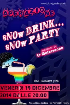 aperazione sNOw DRINK sNOw PARTY